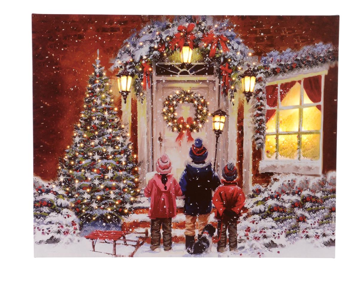 LED Bild Weihnachten Fiberglas Optik 40x50 cm Image