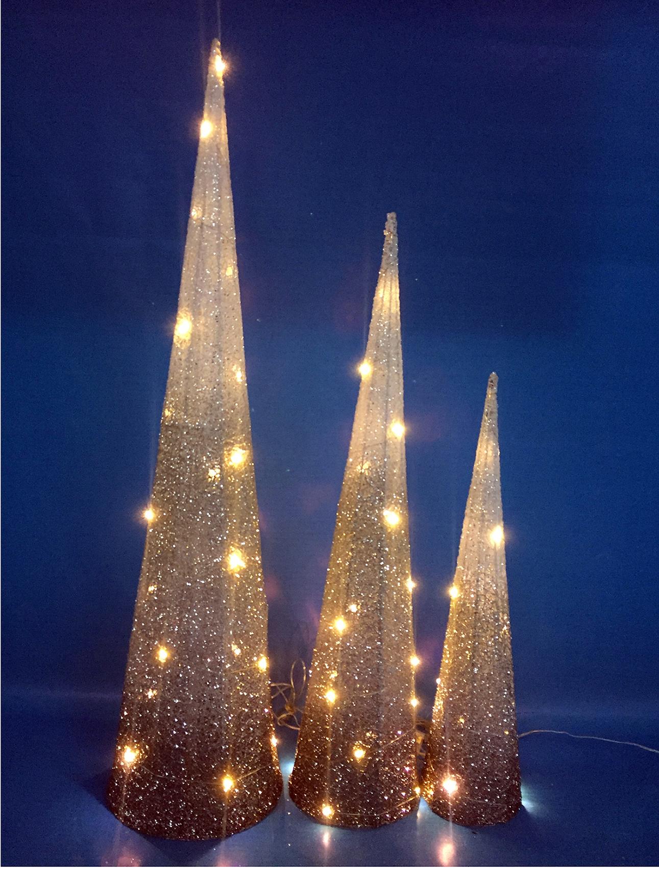 LED Pyramiden Set gold 60/80/100 cm Image