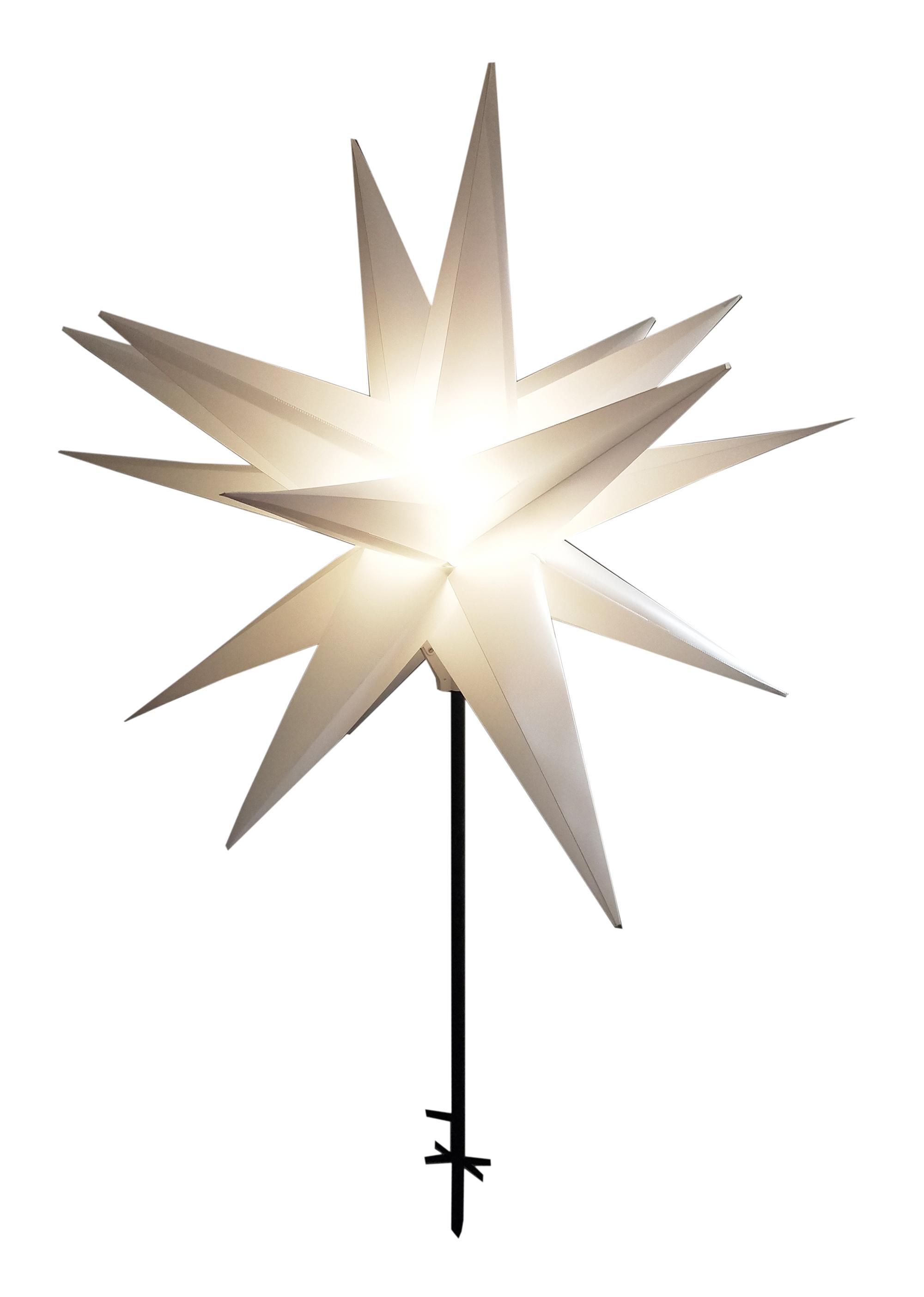 Stern mit LED und Stab 100 cm Image