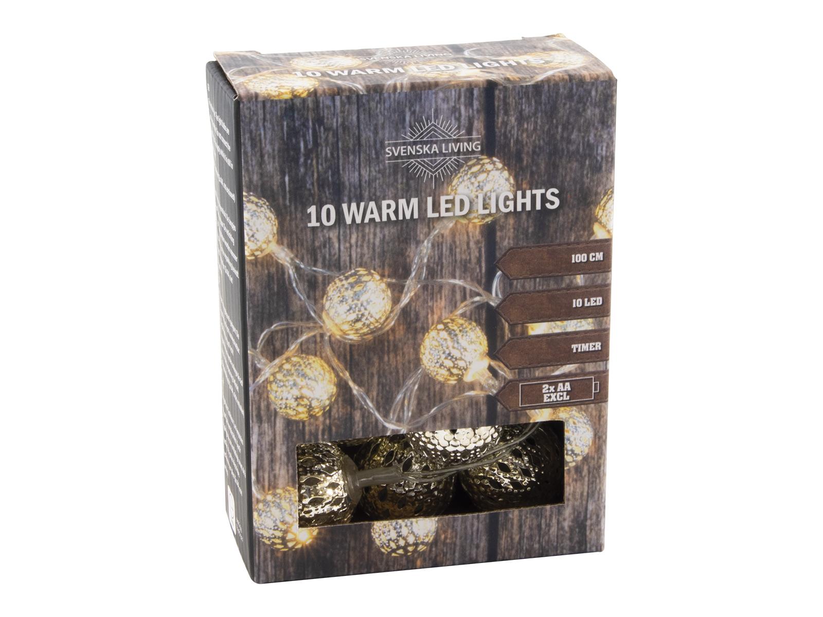 LED Kette Metall 10 warm silber Image