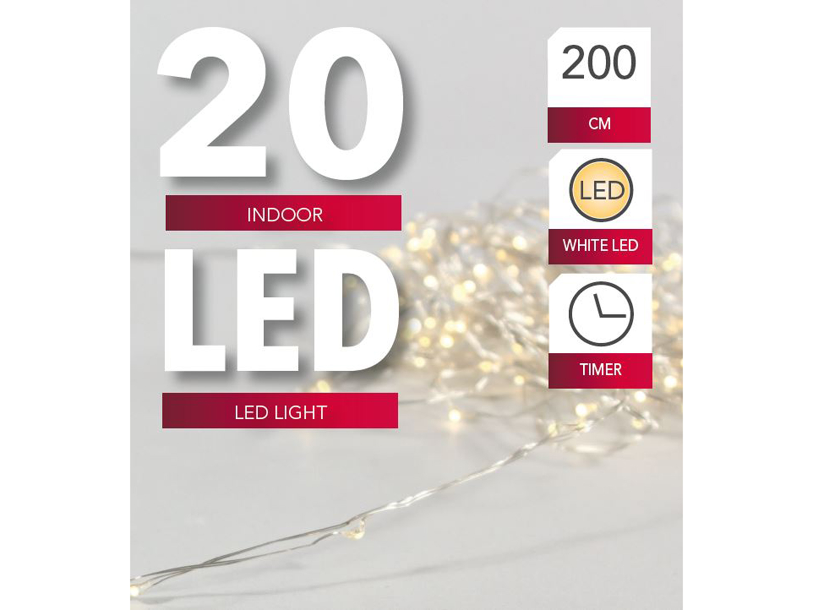 Draht Beleuchtung 20 LED, 2m Image