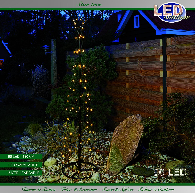 Baum mit Stern LEDs warmweiß 180 cm Image