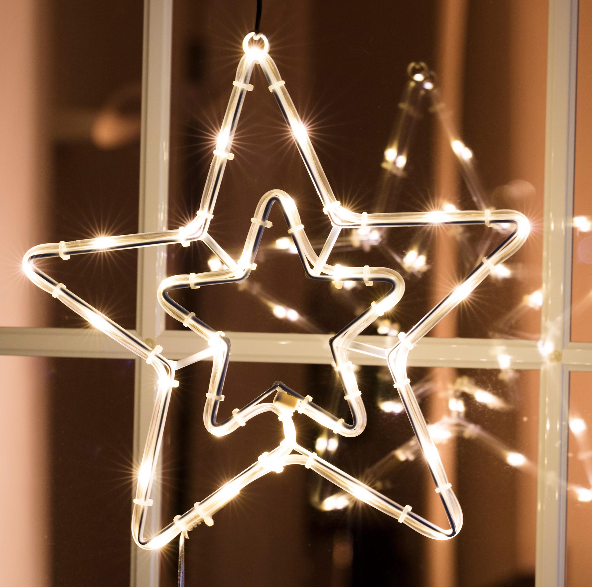 Lichterschlauch Stern mit 30 warmweißen LED Image