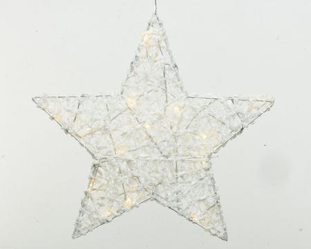 LED Baumwoll Stern warmweiß 30 cm Image