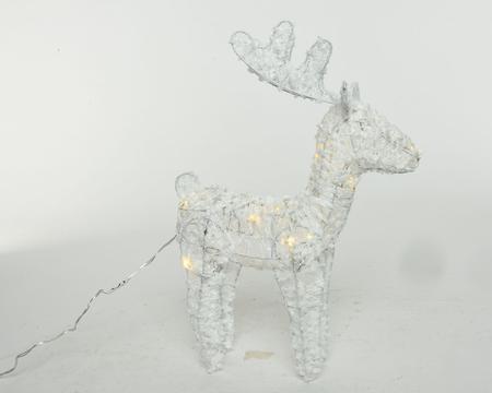 LED Baumwoll Hirsch warmweiß 35 cm Image