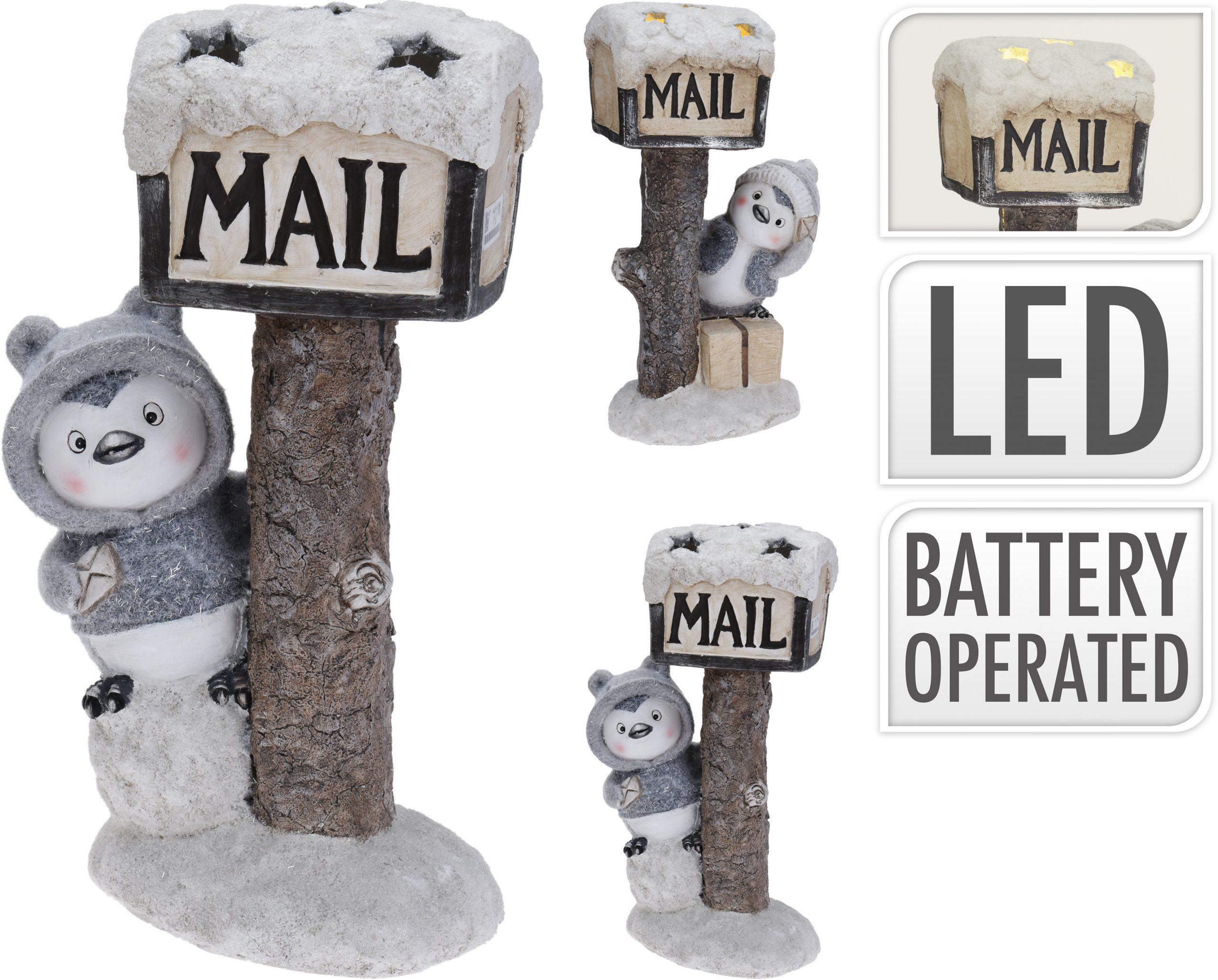 Pinguin mit Briefkasten 43 cm Image