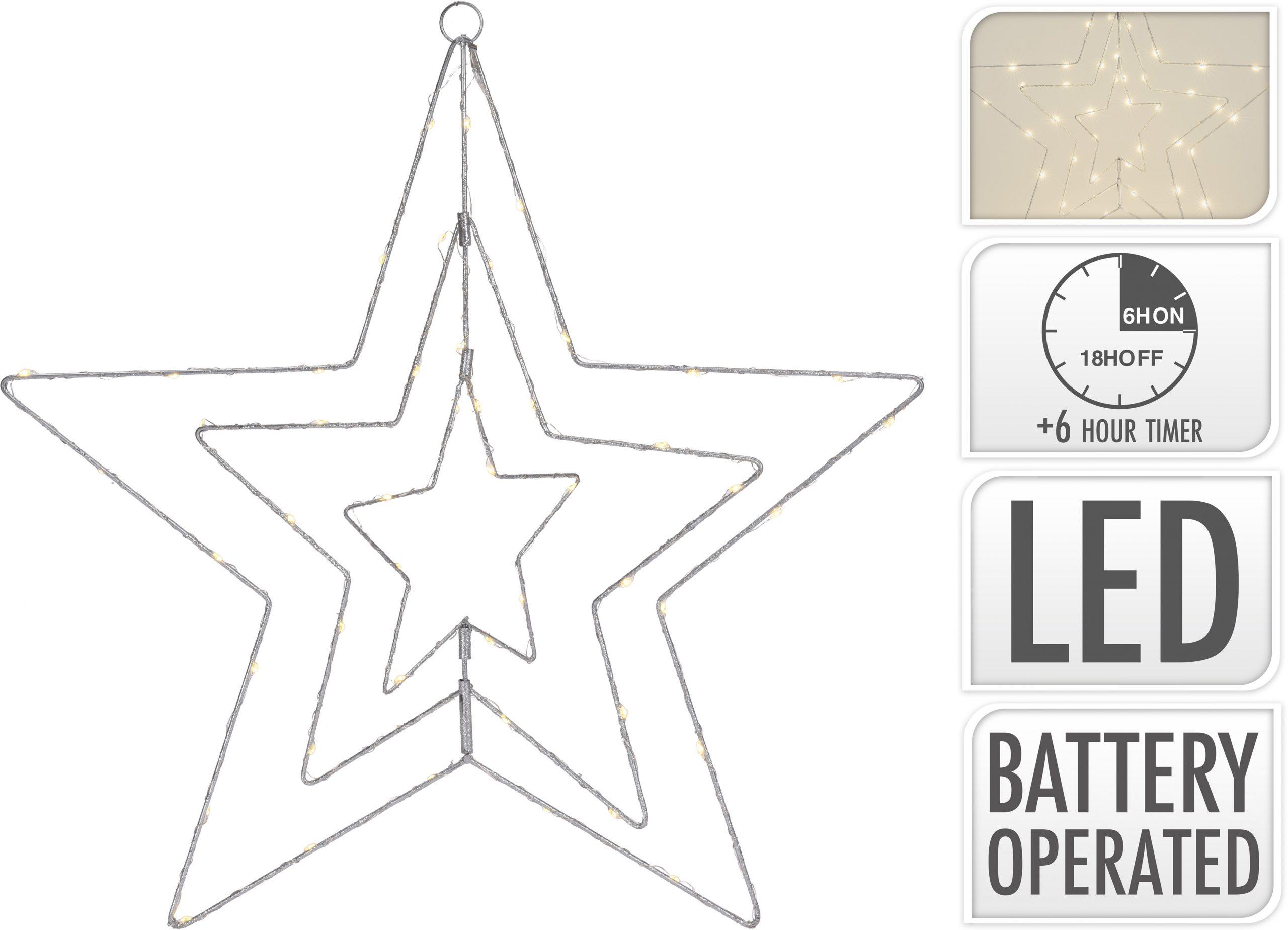 LED Stern silber 60 cm Image