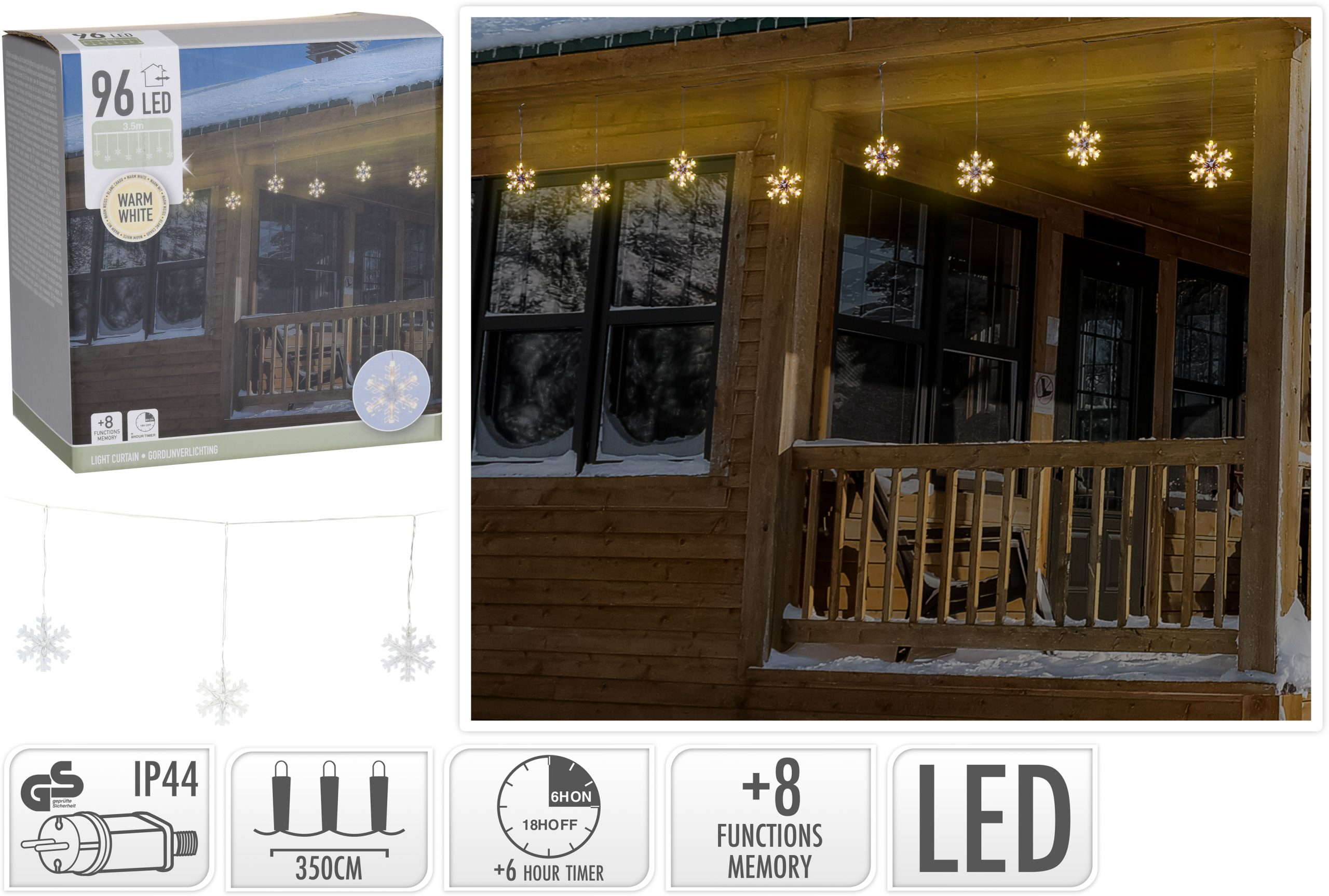 LED Beleuchtung Schneeflocke Image