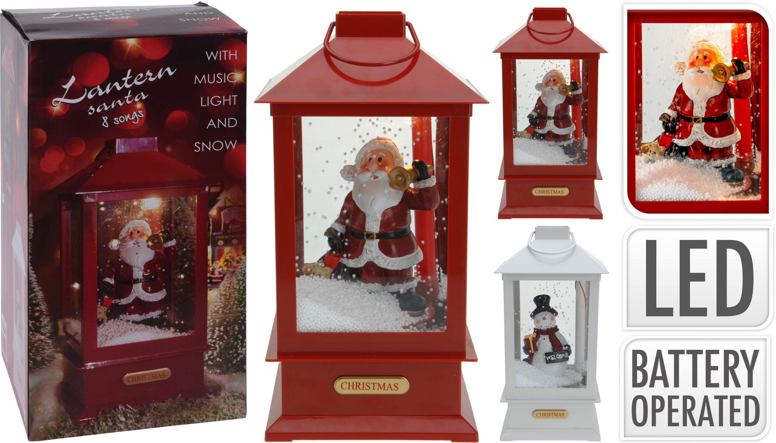 Laterne mit Weihnachtsfigur 38 cm Image